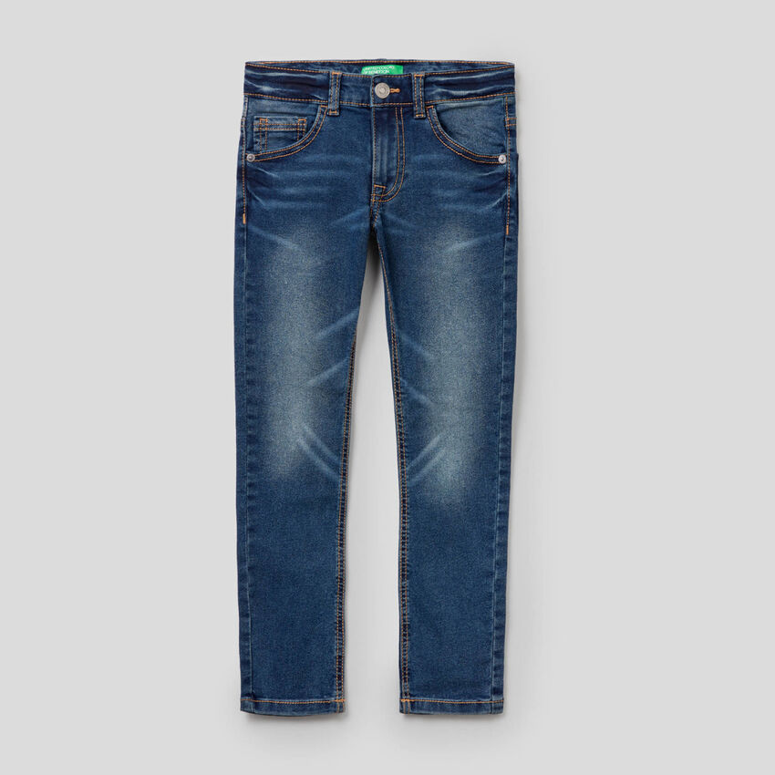 Skinny-Fit-Jeans mit Vintage-Effekt