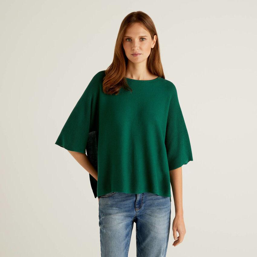 Pullover mit besonderer Verarbeitung und 3/4-Ärmeln
