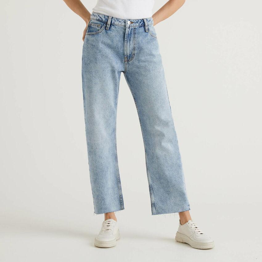 Five-Pocket-Jeans mit geradem Bein