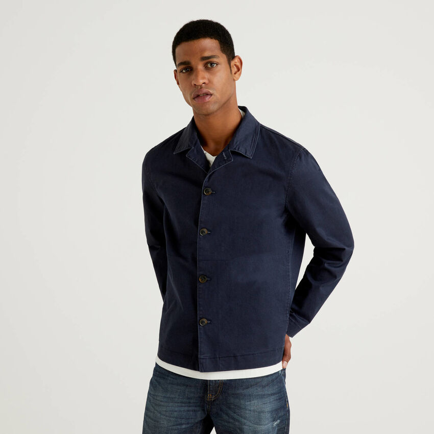 Jacke aus Stretch-Baumwolle