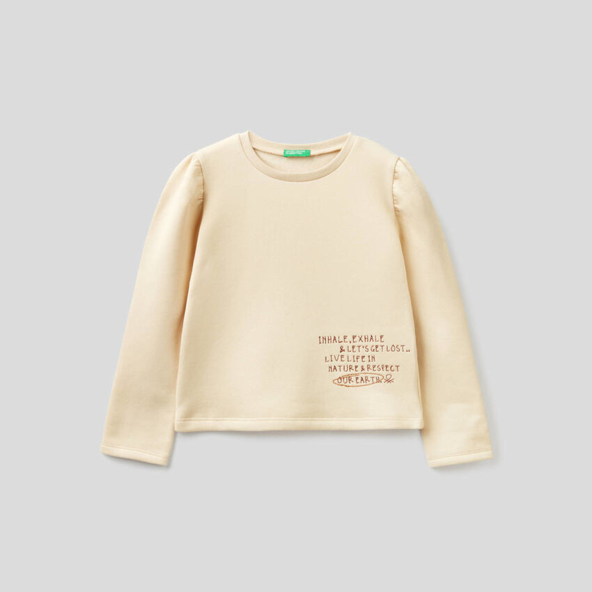 Sweatshirt mit gerafften Schultern