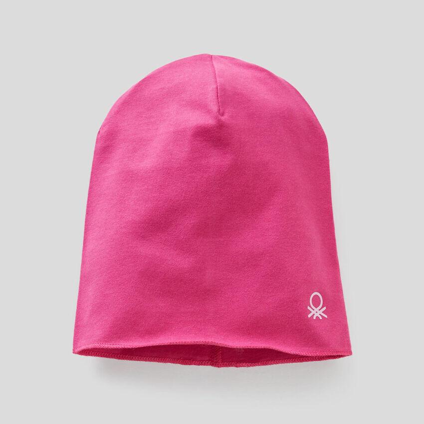 Mütze aus Jersey in elastischer Baumwolle