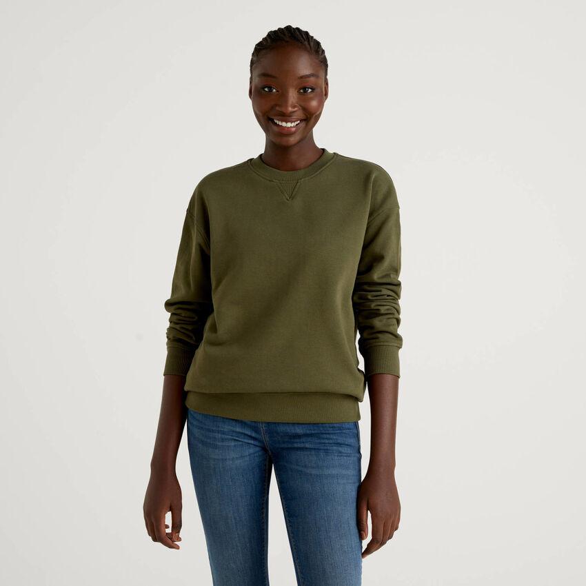 Unisex-Sweatshirt in Militärgrün