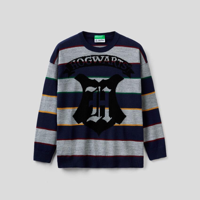 Harry Potter-Pullover mit Intarsienarbeit