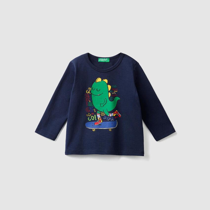T-Shirt mit Rundausschnitt und Print