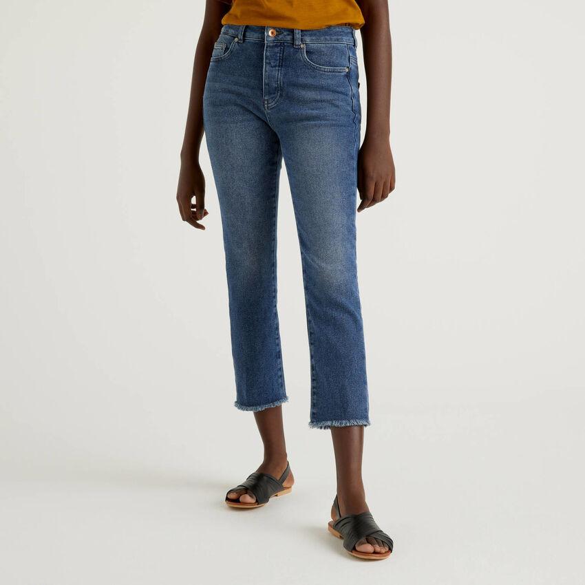 Five-Pocket-Jeans in Cropped-Länge
