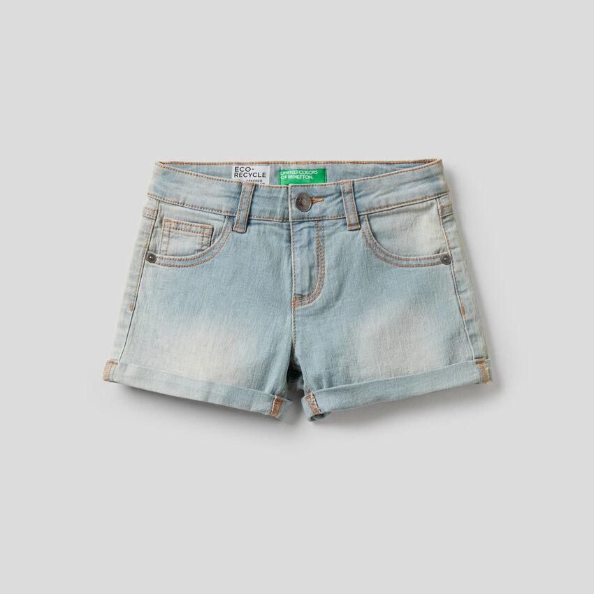 Shorts aus elastischer Baumwolle