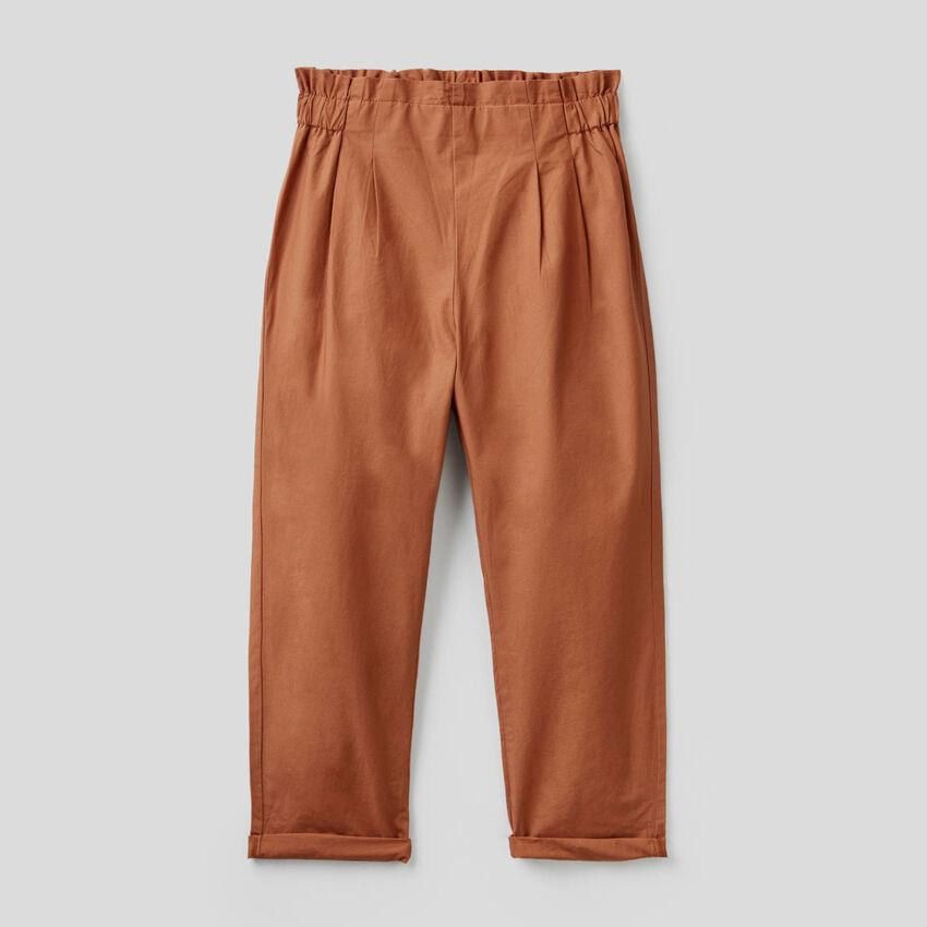 Lange Hose aus 100% Baumwolle