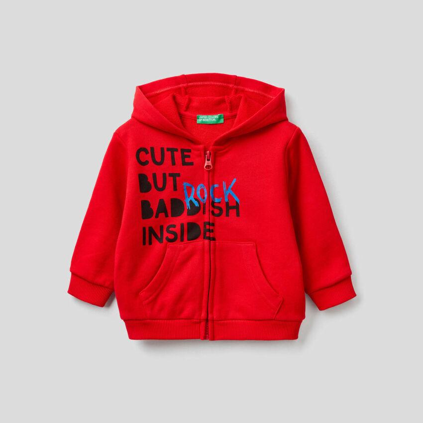 Sweatshirt aus Bio-Baumwolle mit Kapuze