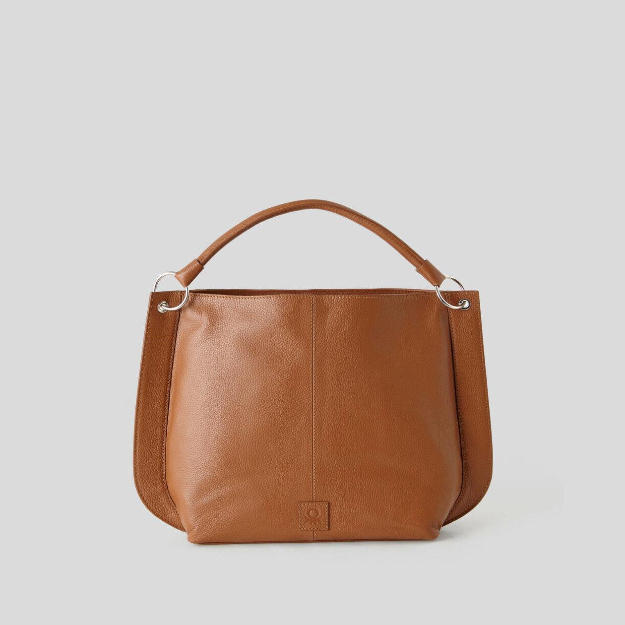 Hobo-Bag aus echtem Leder
