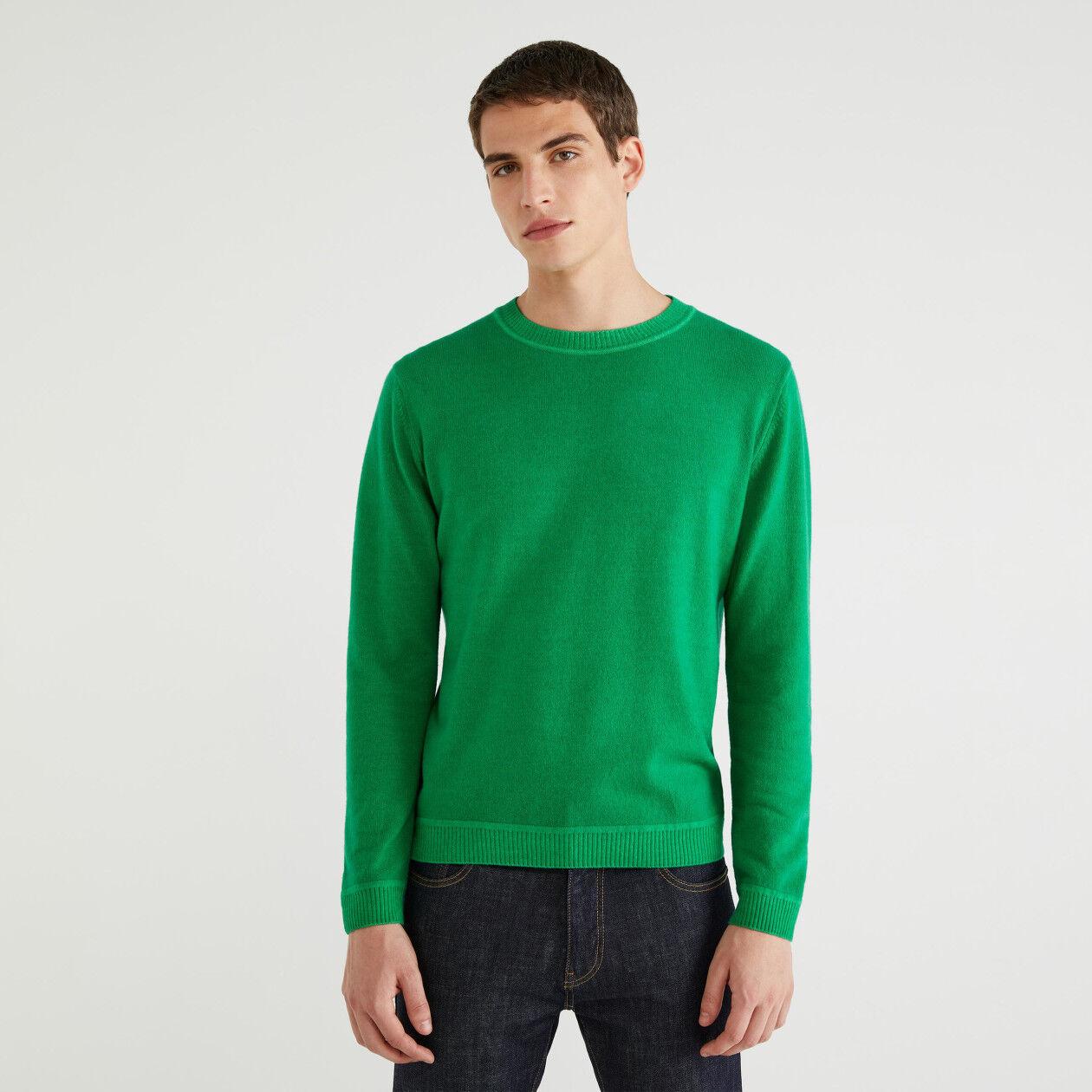 Pullover aus Wolle mit Rundausschnitt