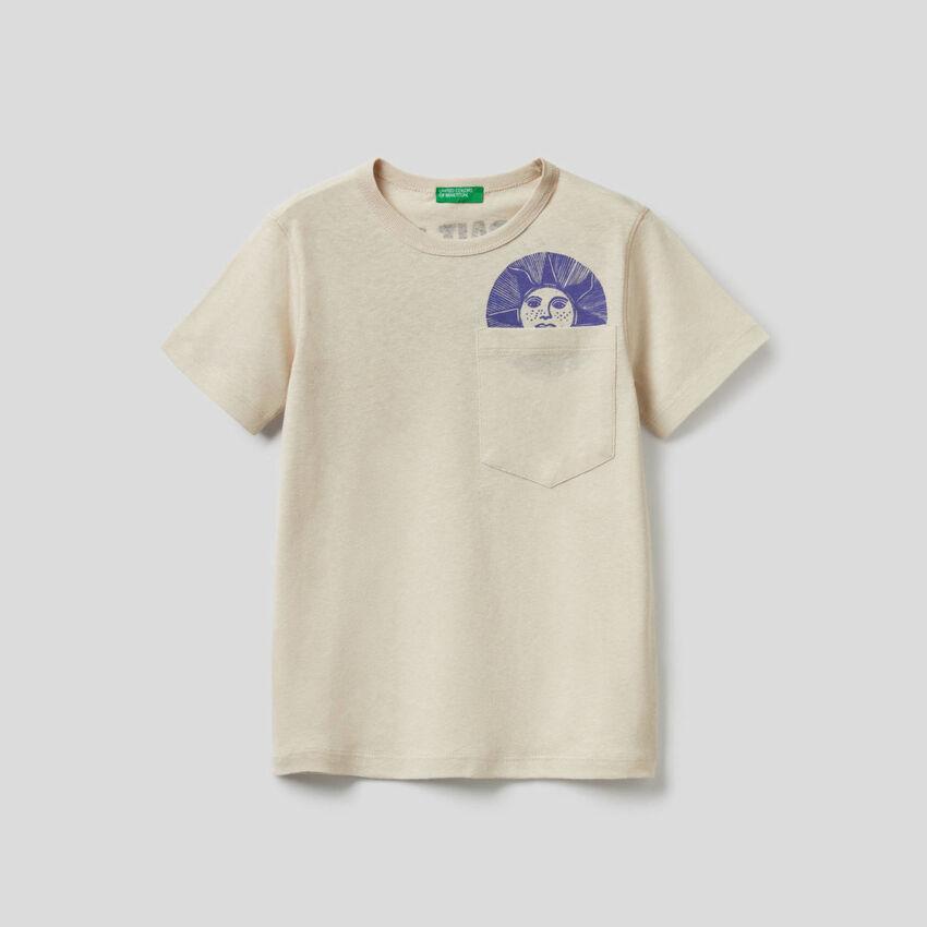 T-Shirt mit aufgedrucktem Slogan