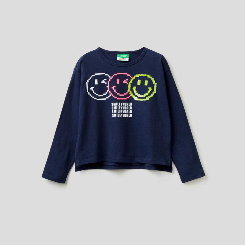 Langärmeliges SmileyWorld®-T-Shirt