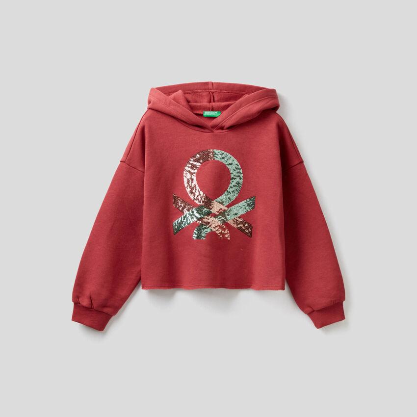 Sweater mit Pailletten-Logo