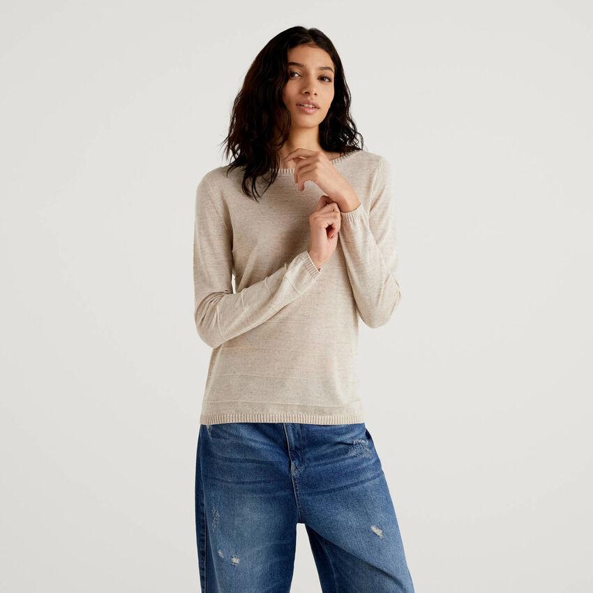 Pullover mit Carmenausschnitt