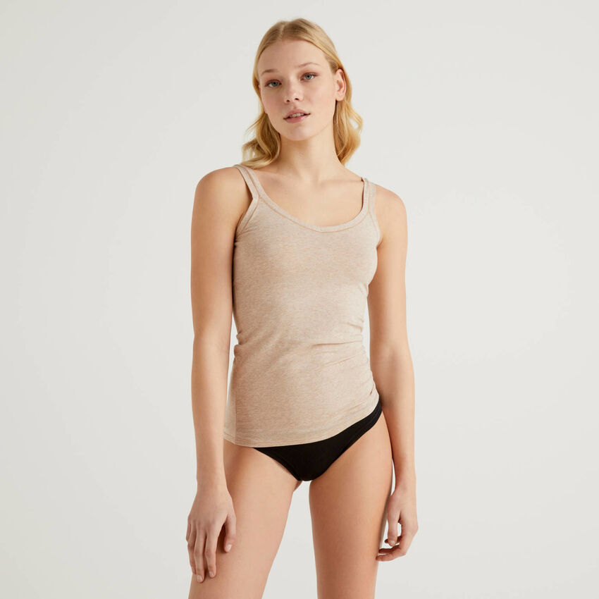 Unterhemd aus stretchiger, langfaseriger Baumwolle