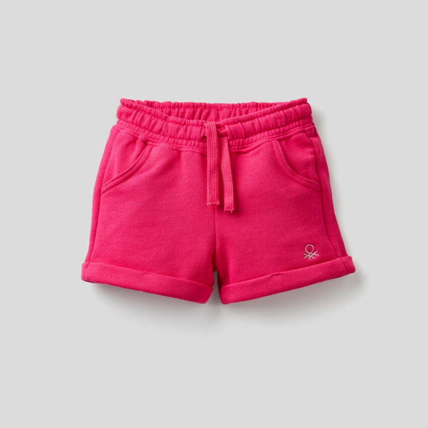 Shorts aus leichtem Sweatstoff