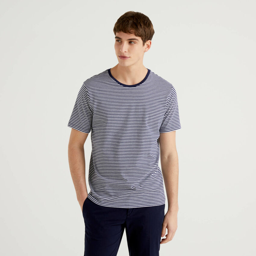 Gestreiftes T-Shirt aus reiner Baumwolle