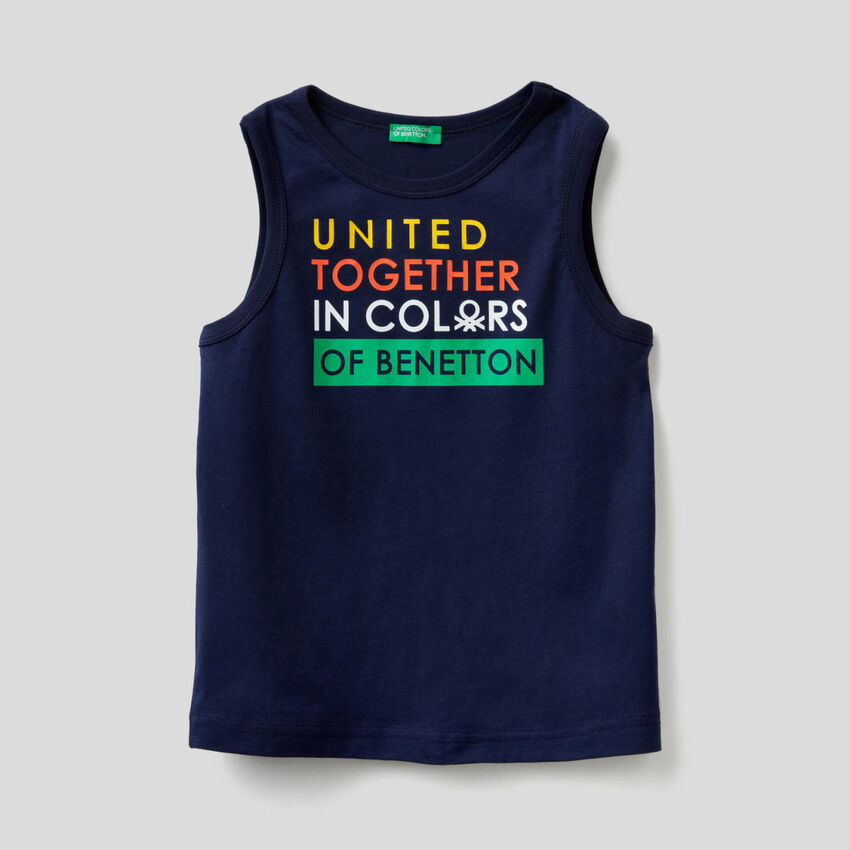 Ärmelloses T-Shirt mit aufgedrucktem Logo