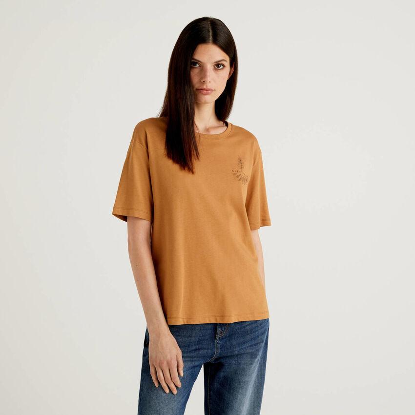 T-Shirt aus 100% Bio-Baumwolle mit Slogan