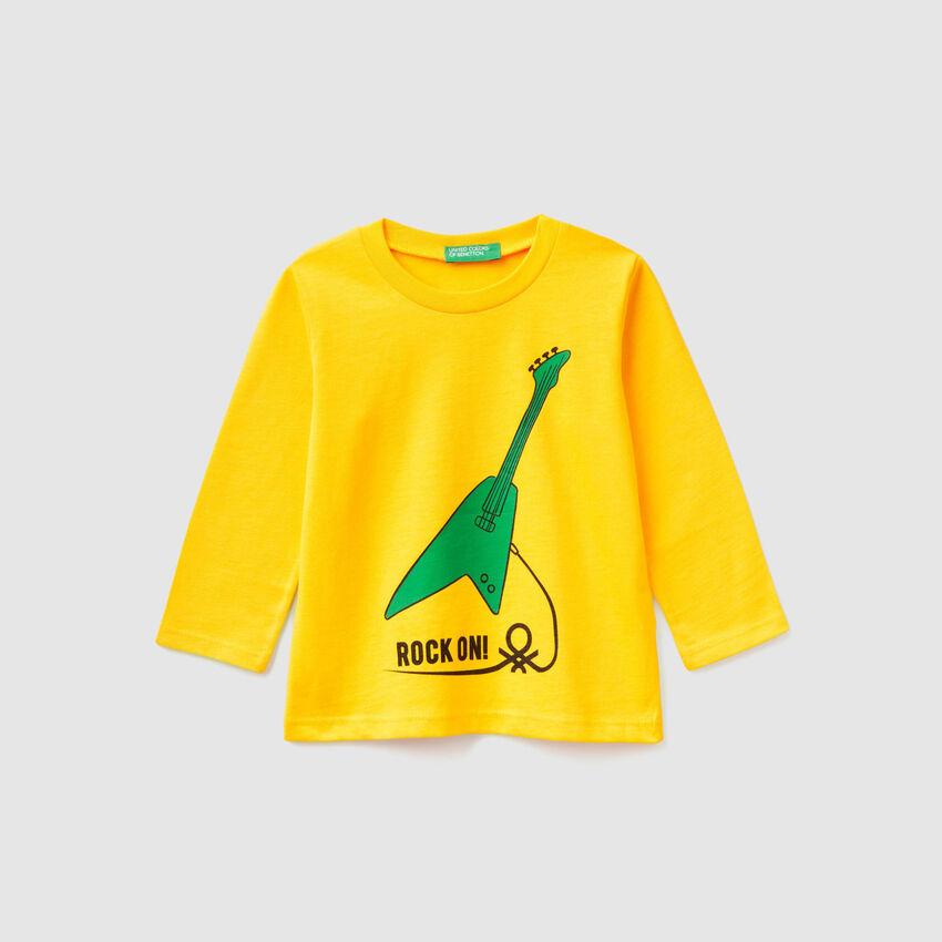 T-Shirt aus Bio-Baumwolle mit Print