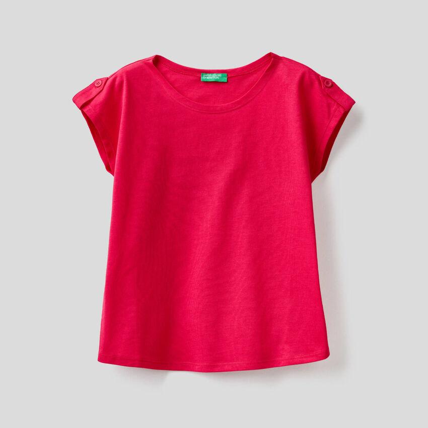 Einfarbiges T-Shirt in 100% Baumwolle