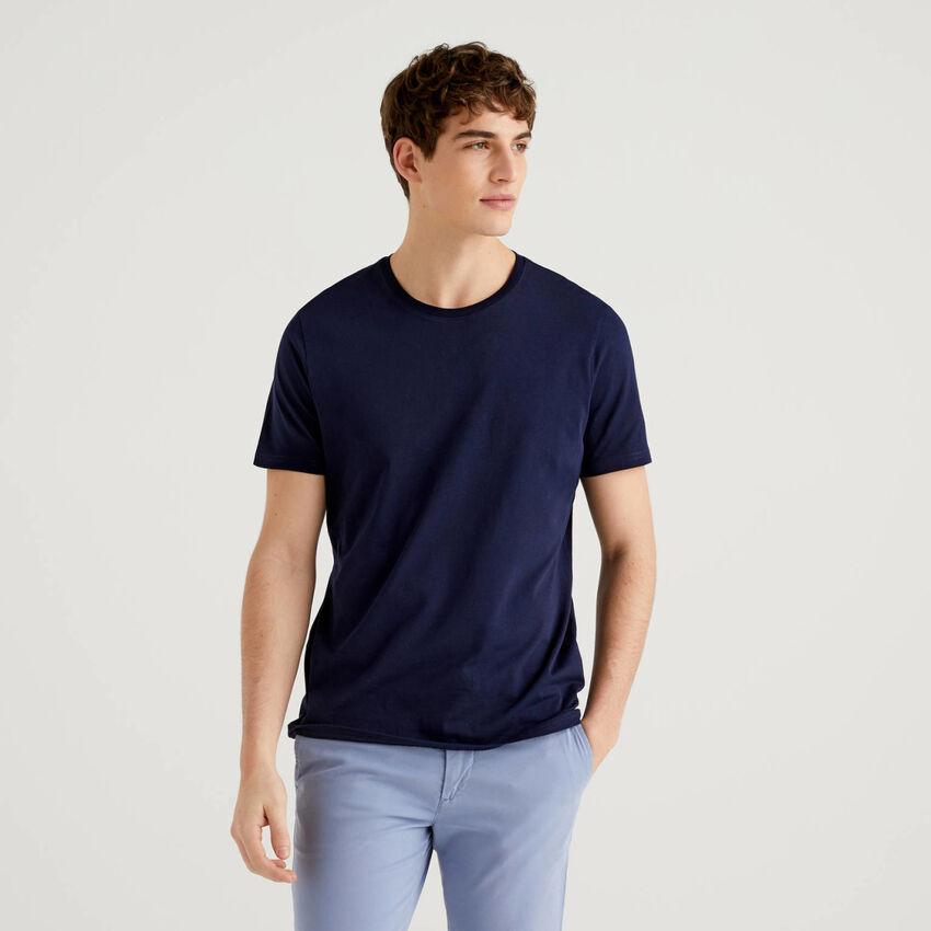 T-Shirt in Dunkelblau