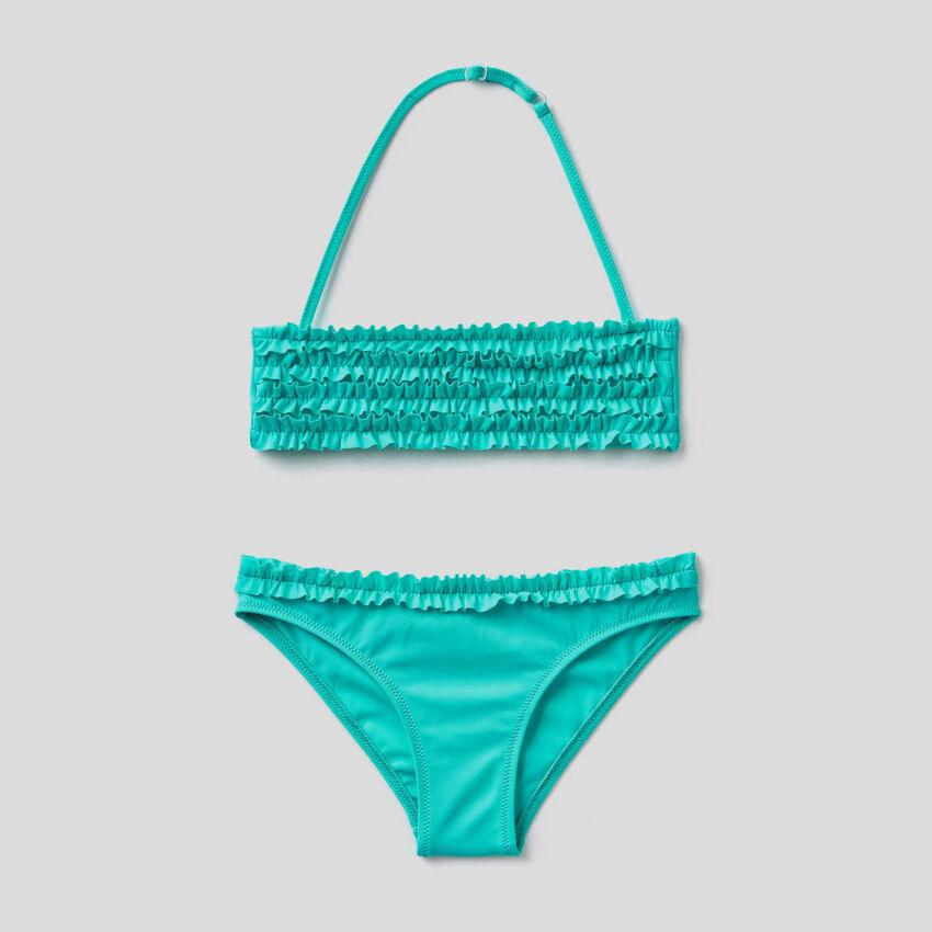 Bikini aus ECONYL® mit Rüschen