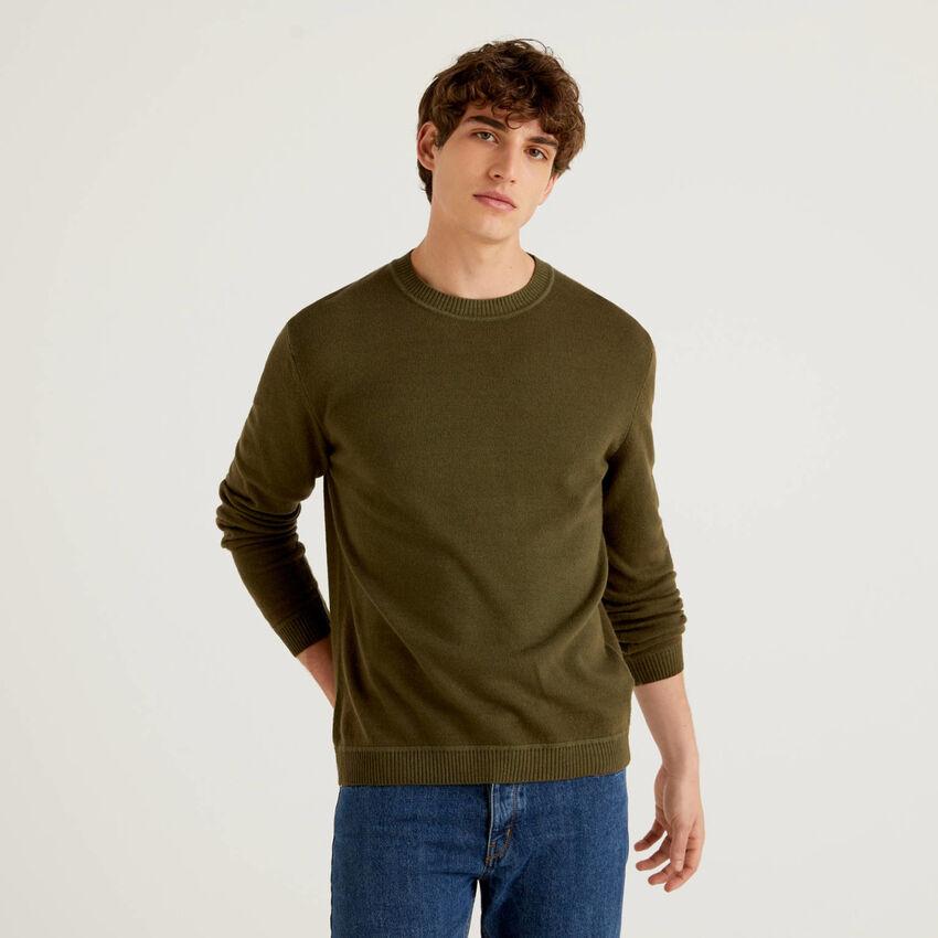 Pullover aus einer Wollmischung mit Rundausschnitt