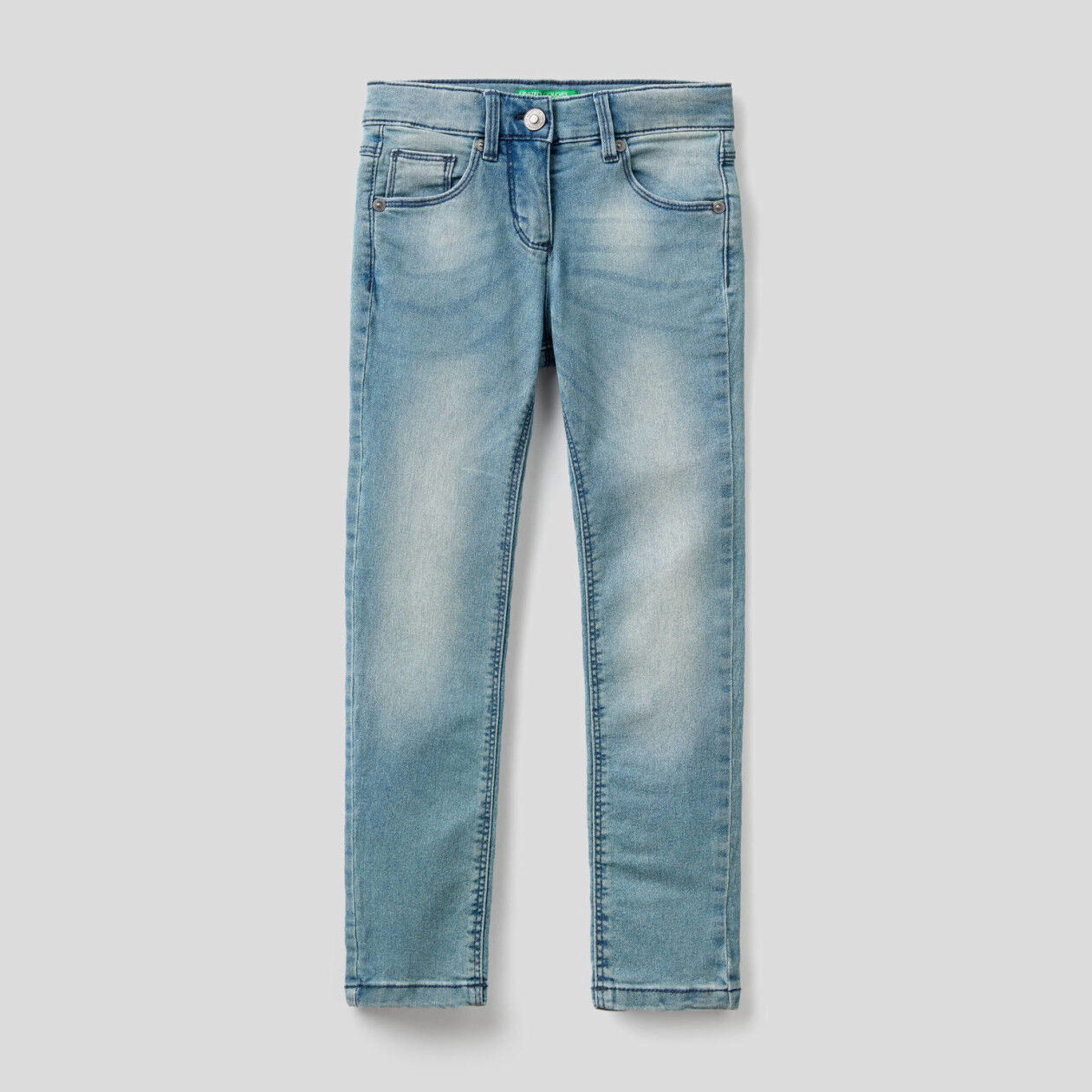 Skinny Fit-Jeans mit niedrigem Bund