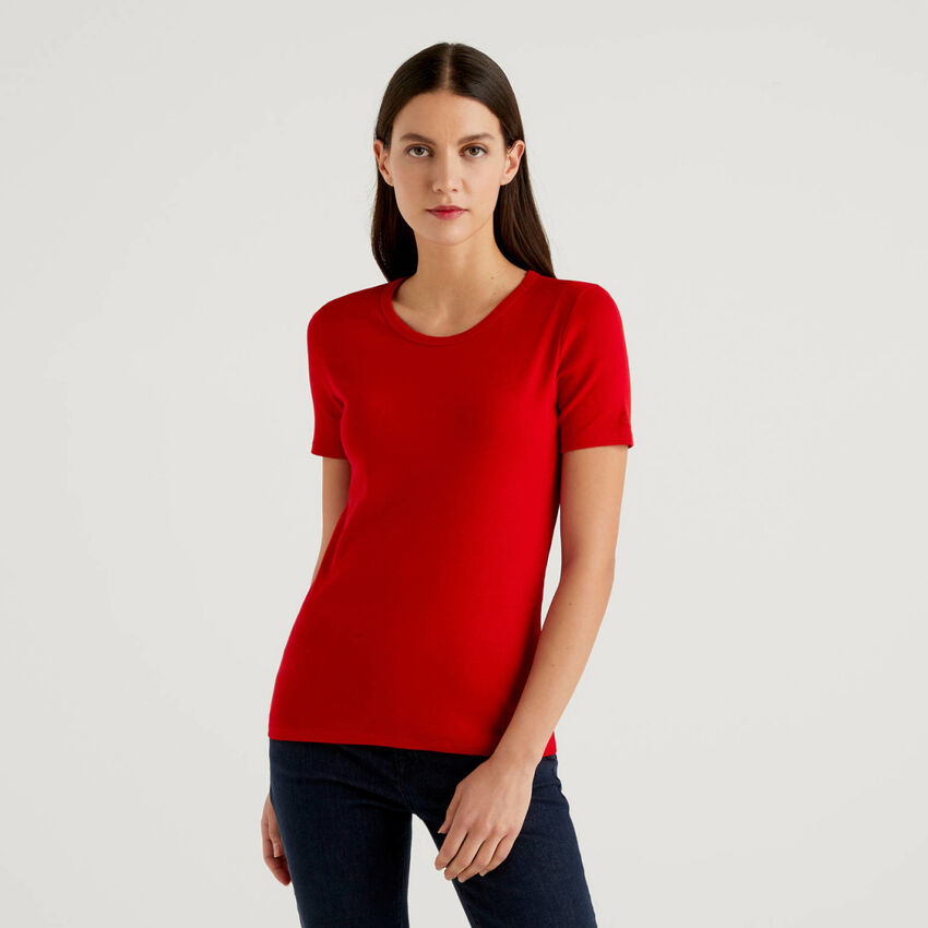 T-Shirt aus langfaseriger Baumwolle