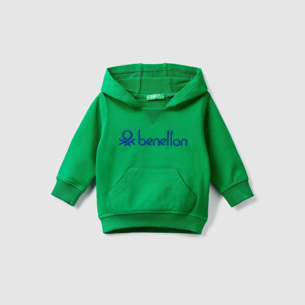 Stretch-Sweatshirt mit Kapuze