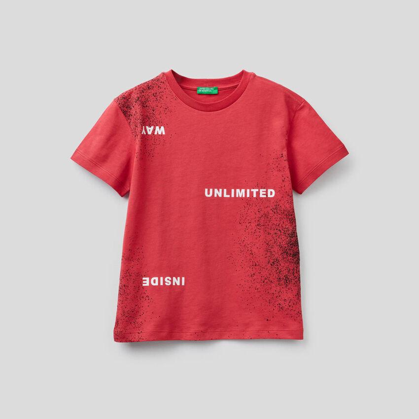 T-Shirt mit Print und Sprayer-Effekt