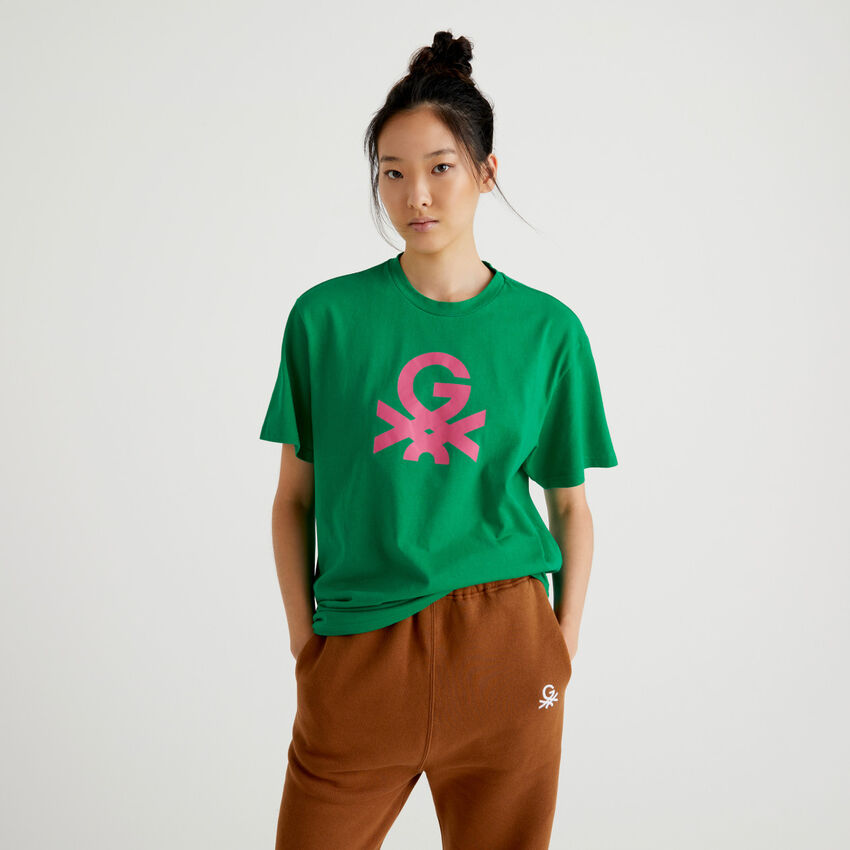 Grünes Unisex-T-Shirt mit Logo by Ghali