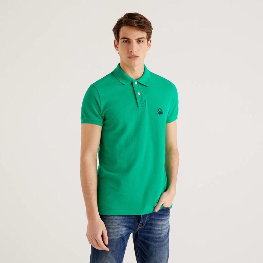 Grünes Slim-Fit-Polo