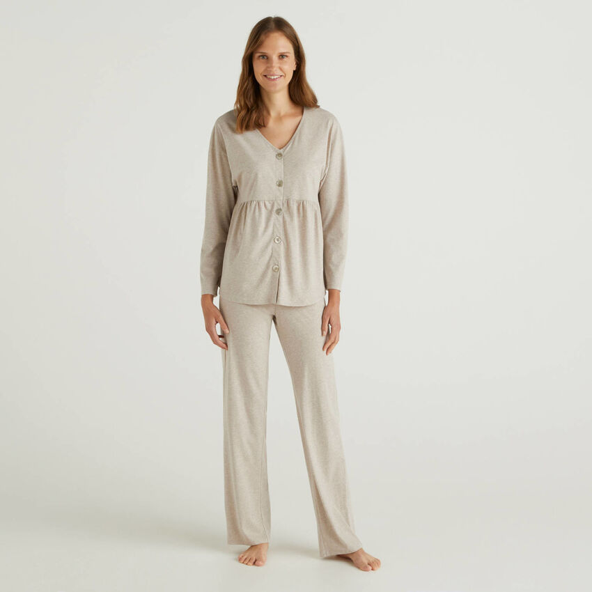 Pyjama aus langfaseriger Baumwolle