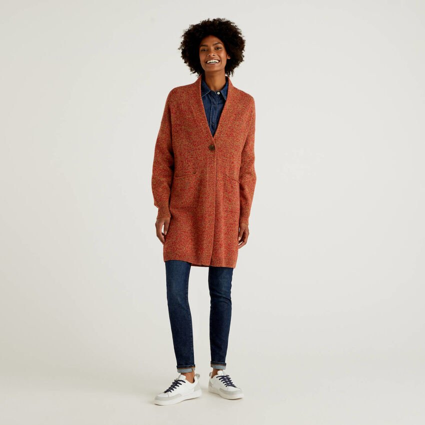 Mantel aus reiner Shetlandwolle