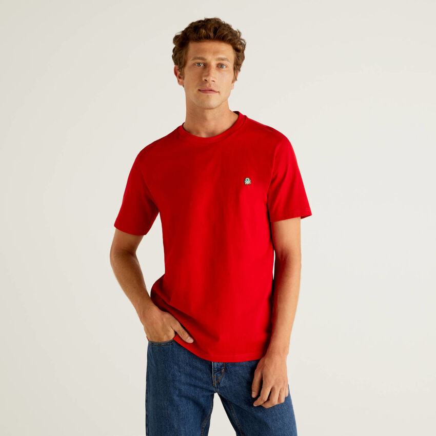 Basic-T-Shirt aus 100% Bio-Baumwolle