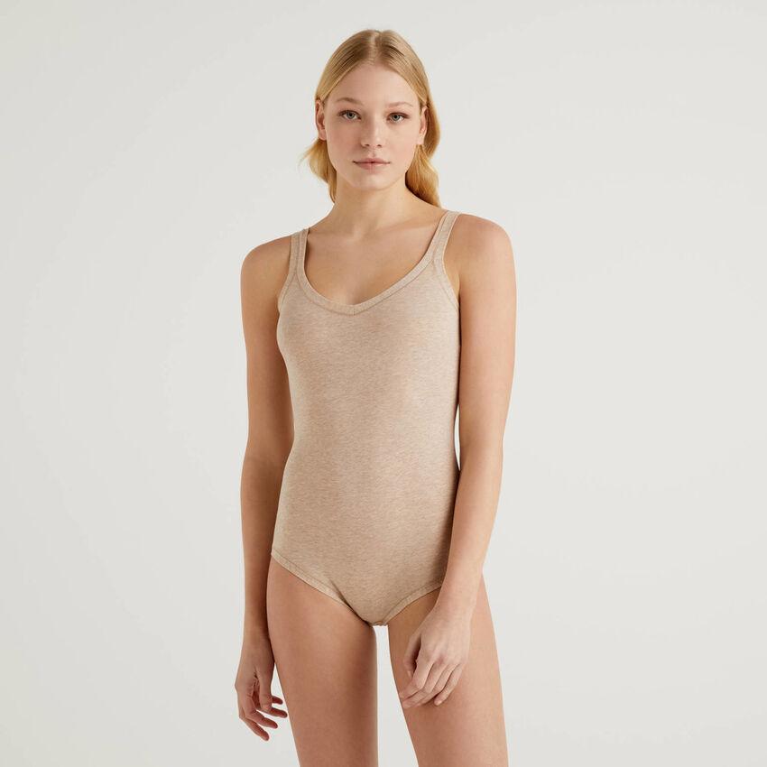 Body aus elastischer Baumwolle