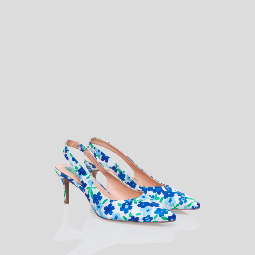 Pumps mit All-over-Print