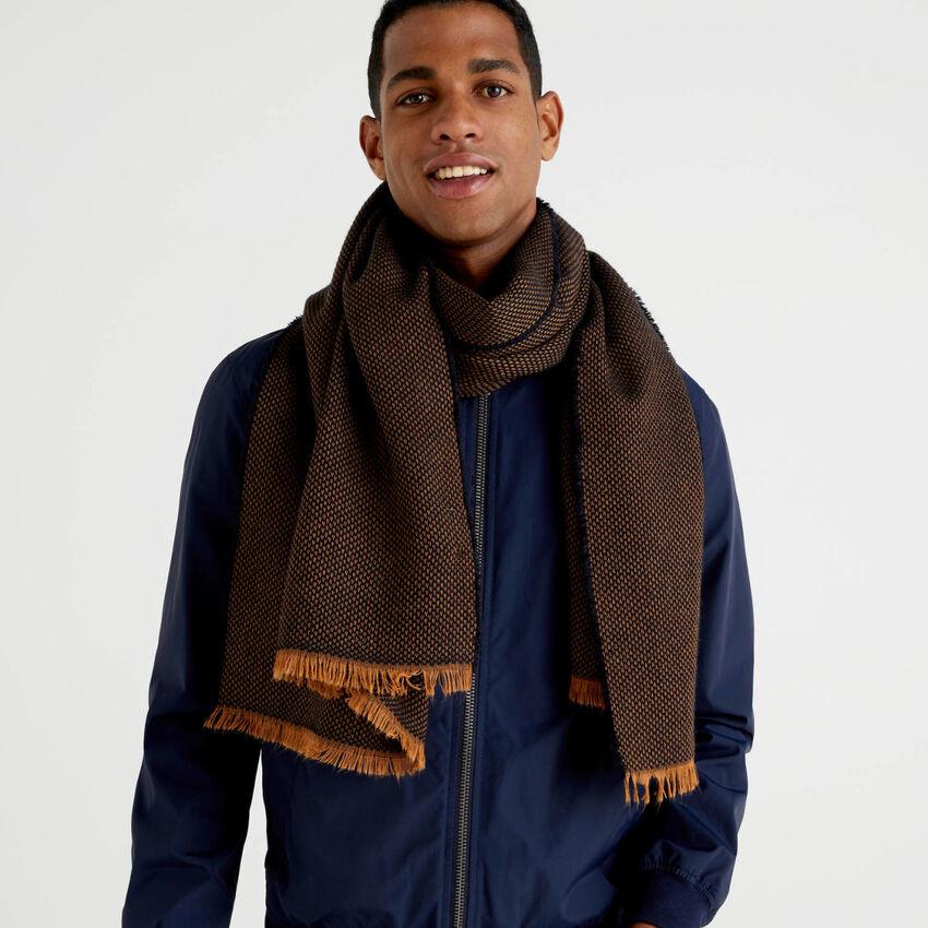 Schal aus Wolle und Alpaka