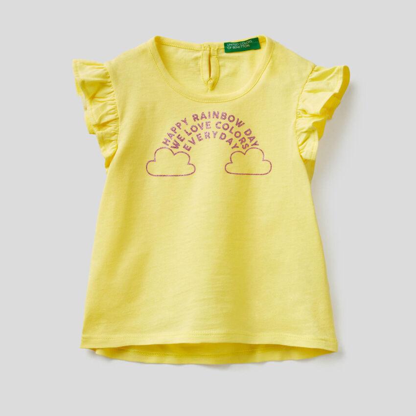 T-Shirt mit Flügelärmeln