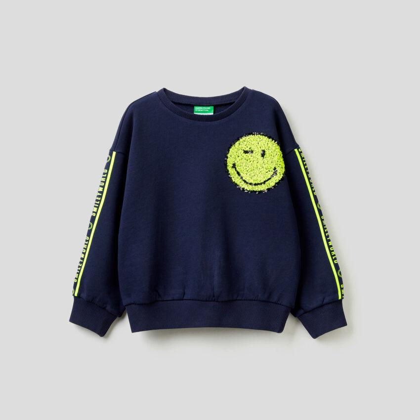 SmileyWorld®-Sweater aus reiner Baumwolle