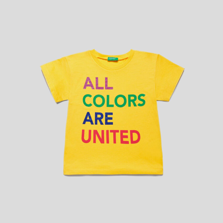T-Shirt mit Multicolor-Logoprint