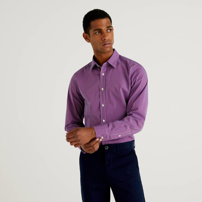 Slim-Fit-Hemd aus 100% Bio-Baumwolle