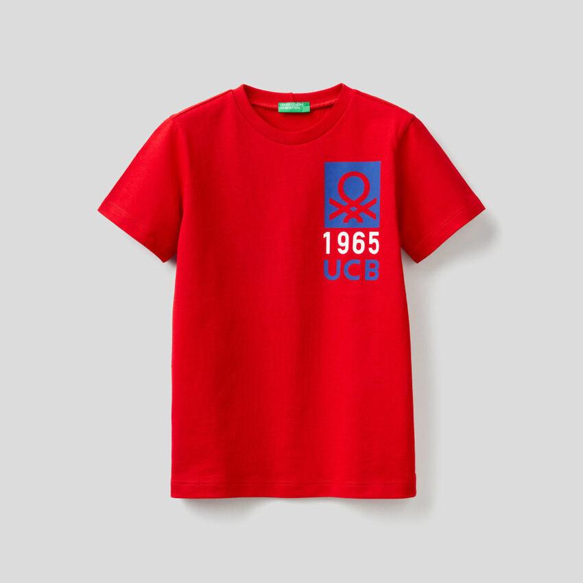 T-Shirt aus 100% Baumwolle mit Print