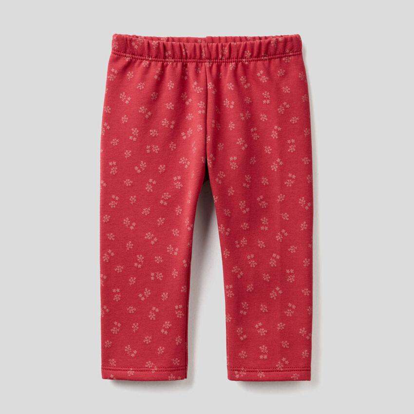Leggings aus Sweatstoff mit Muster