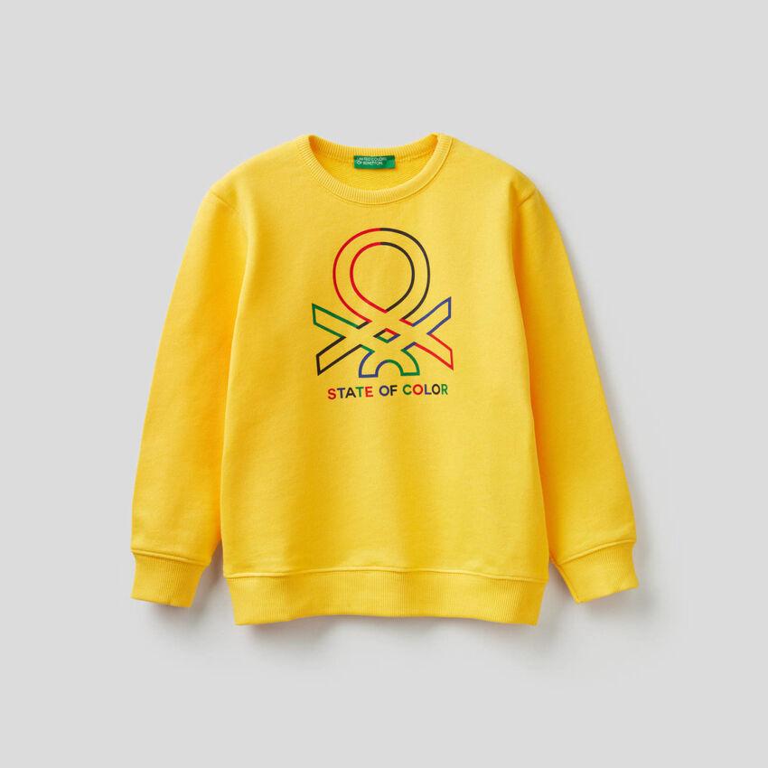 Sweatshirt aus reiner Baumwolle mit Logo