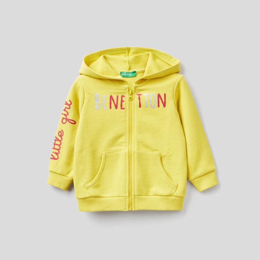 Gelbes Sweatshirt aus Bio-Baumwolle