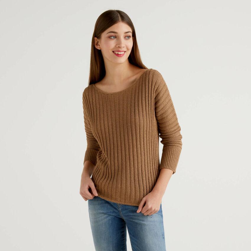 Pullover mit Rippenmuster
